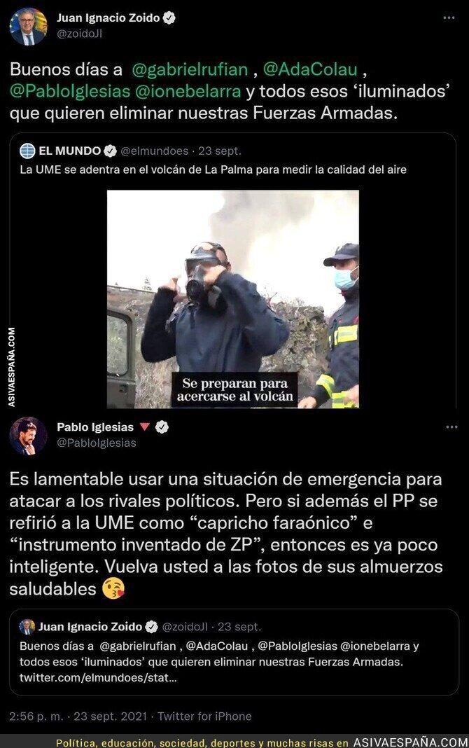 916355 - La gran respuesta de Pablo Iglesias a Juan Ignacio Zoido por alabar a la UME