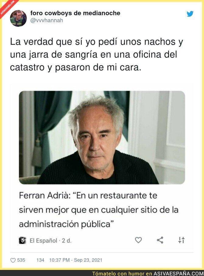 917031 - Las ganas de protagonismo de Ferran Adrià