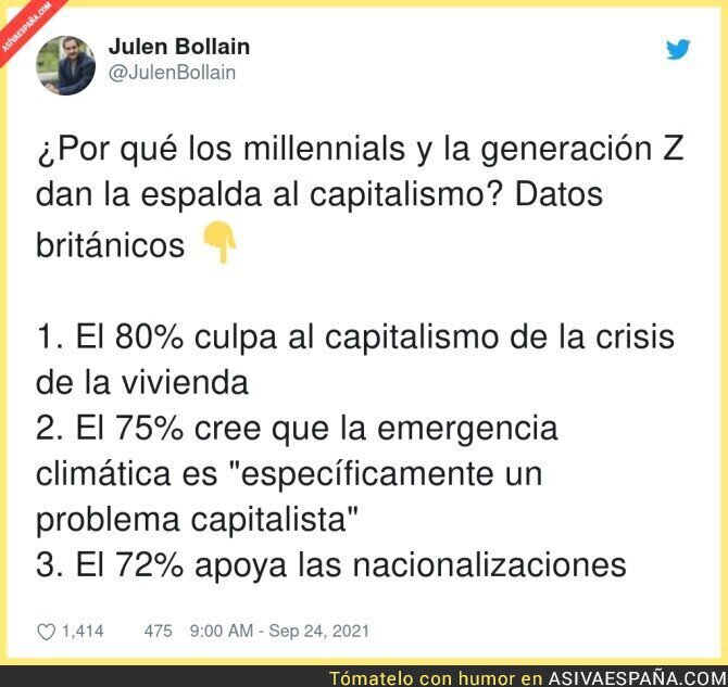917440 - El capitalismo no es bienvenido entre los jóvenes