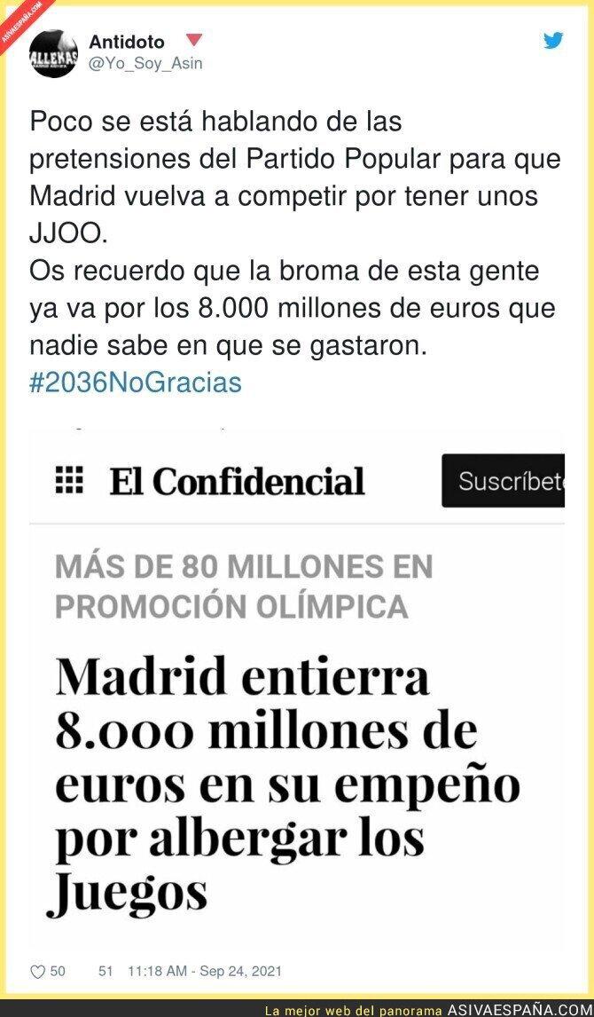 918845 - Vuelve a las andadas los JJOO de Madrid