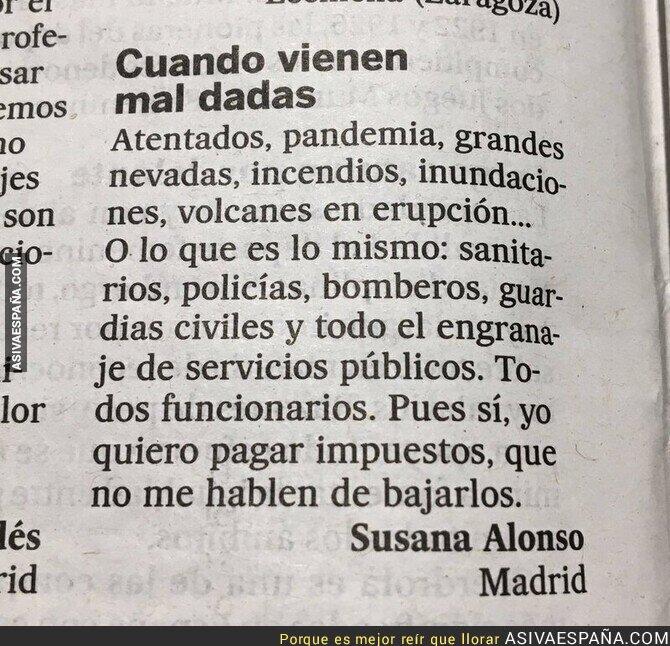 921449 - Esta carta a la directora de El País. Tan cortita y tan clara