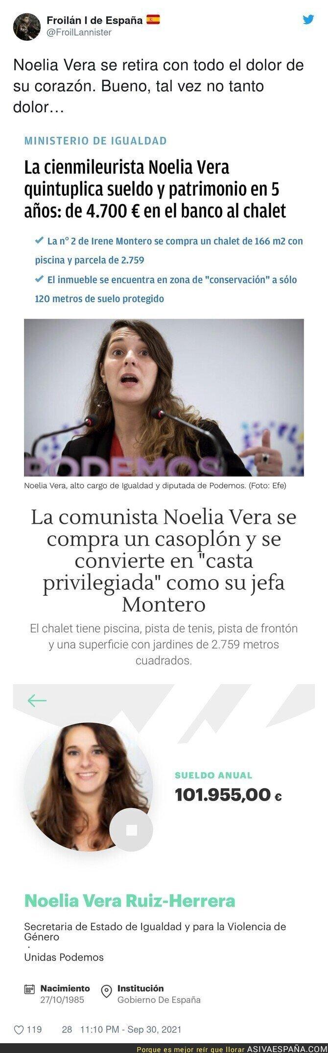 922957 - La buena vida de Noelia Vera tras empezar en política