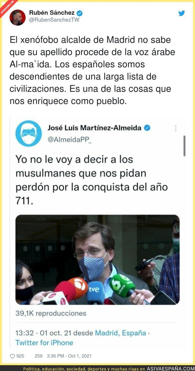 923472 - Menuda xenofobia se gasta José Luis Martínez Almeida