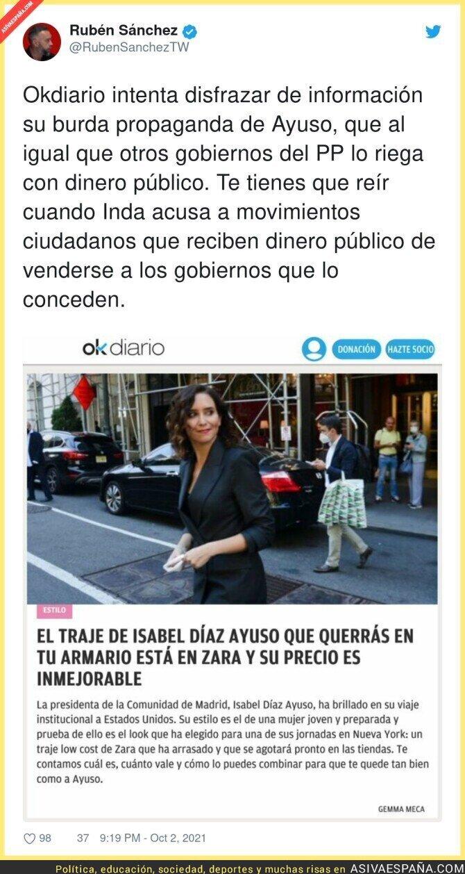 924393 - La publicidad hacia Isabel Díaz Ayuso es lamentable