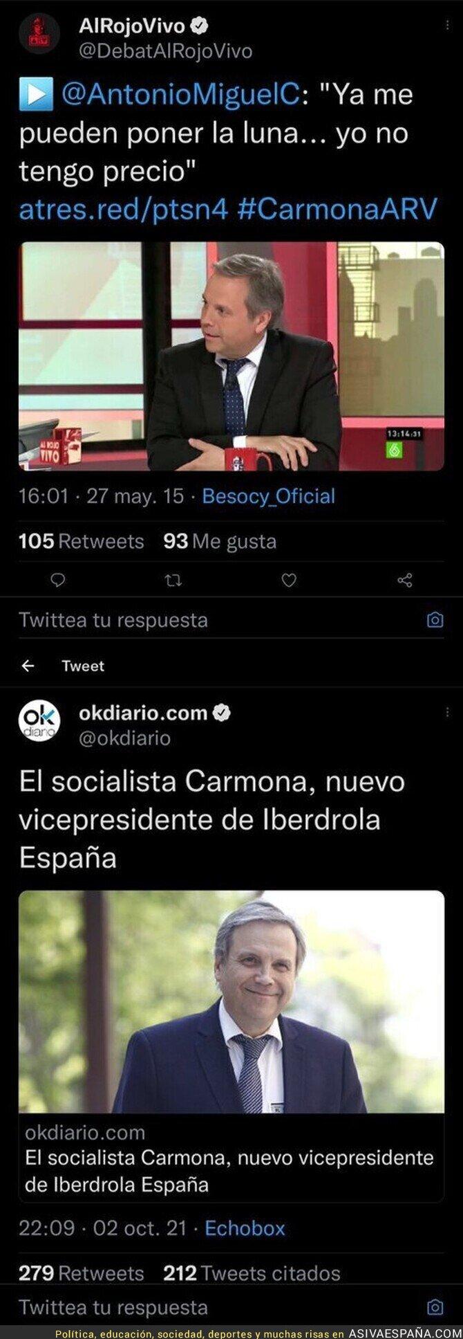 924519 - Antonio Miguel Carmona no puede tener la cara más dura