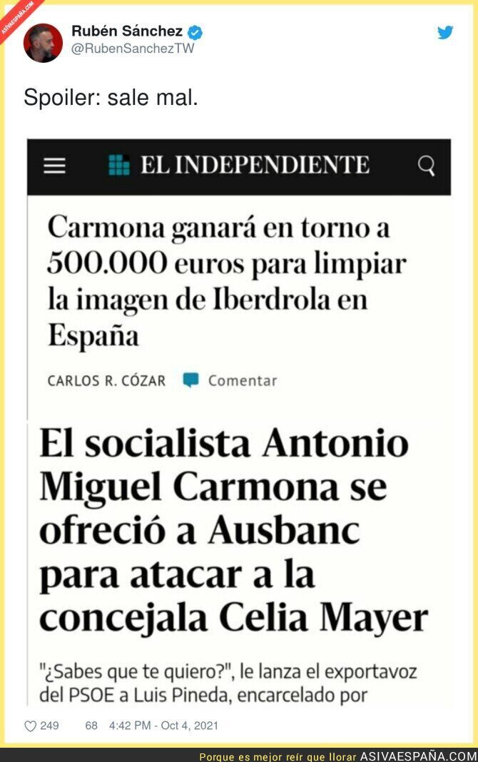 926187 - El sueldazo de Antonio Miguel Carmona