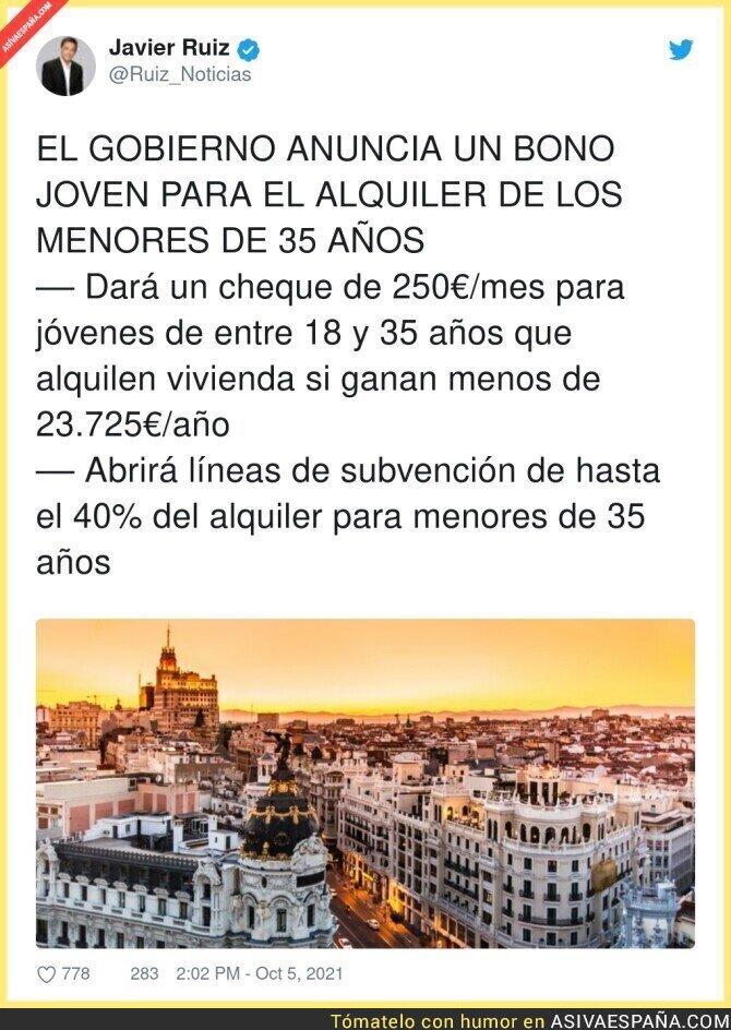 927424 - Es mejor que suban los salarios esos 250€, que no subvencionemos la especulación pero por algo se empieza...