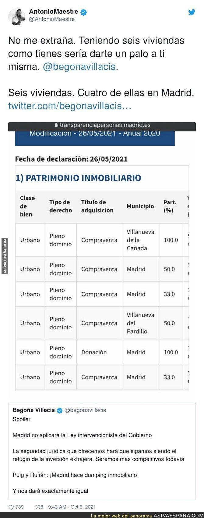 928217 - Begoña Villacís se siente atropellada por el Gobierno con la medida de bonos de 250€ para los jóvenes en alquileres