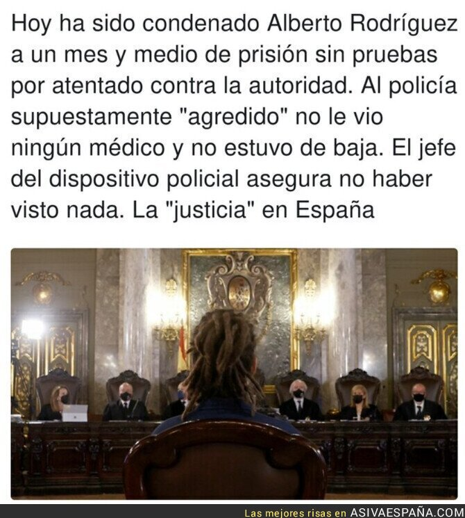 929262 - Esto de Alberto Rodríguez es gravísimo y habla muy mal de la justicia española