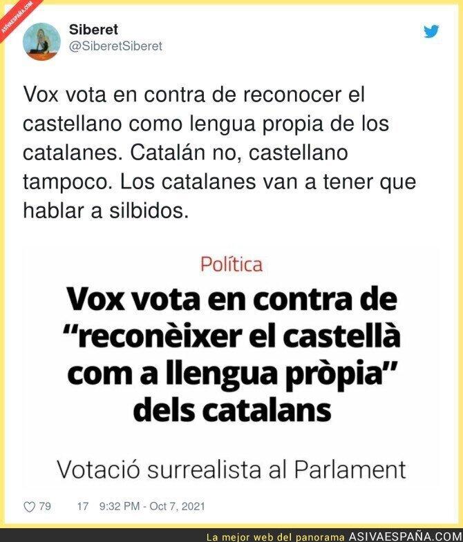 929822 - Los catalanes no pueden hablar en ningún idioma en Catalunya