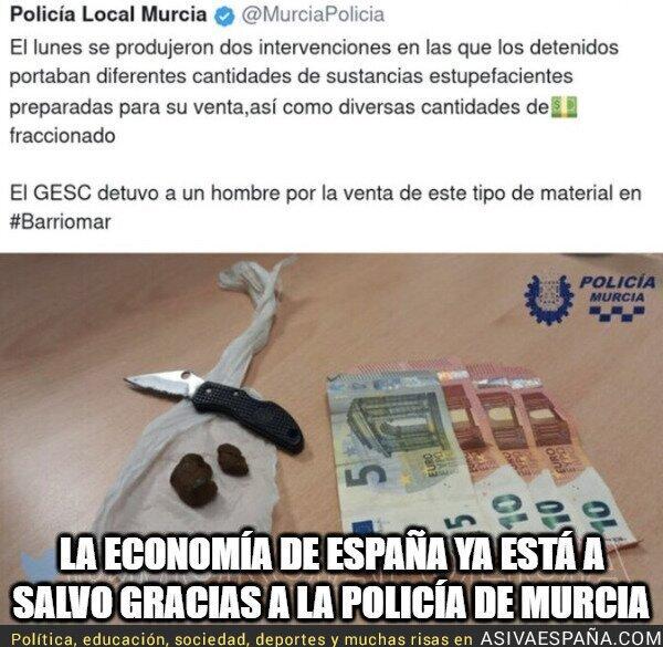 934690 - ¡Gracias policía de Murcia!