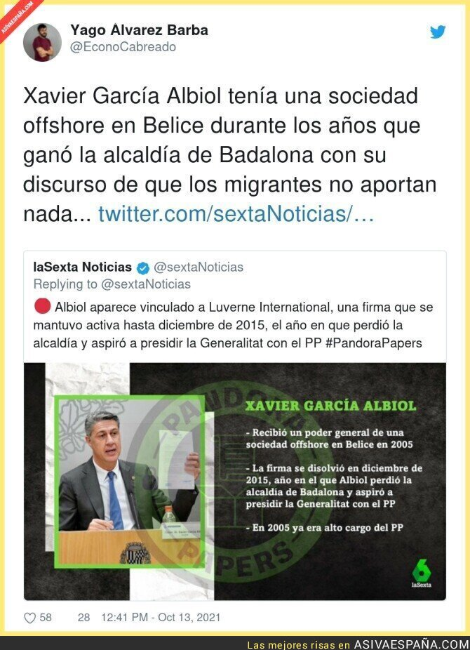 934695 - Así se ha reído Xavier García Albiol de todo el mundo