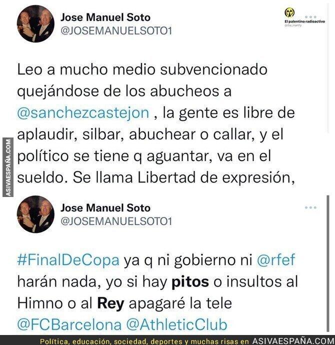 936721 - Este es el doble rasero del 'cantante' José Manuel Soto