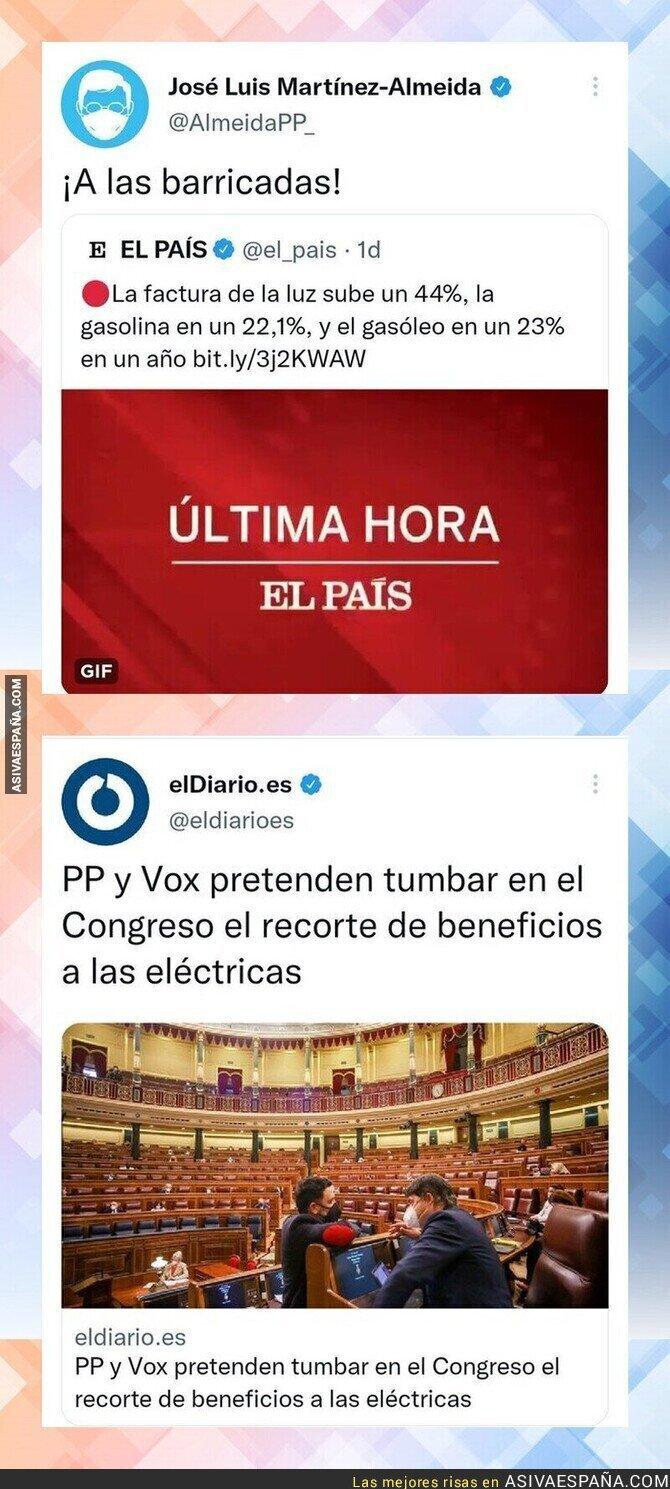 937232 - José Luis Martínez Almeida se queja del precio de la luz y esto hace su partido en el Congreso