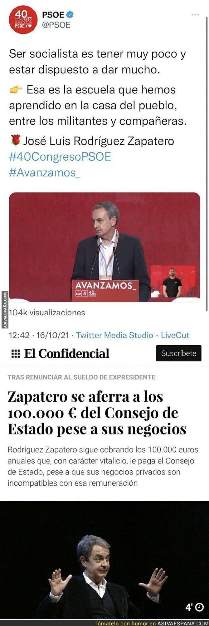 938165 - Lecciones de Zapatero que no aplica