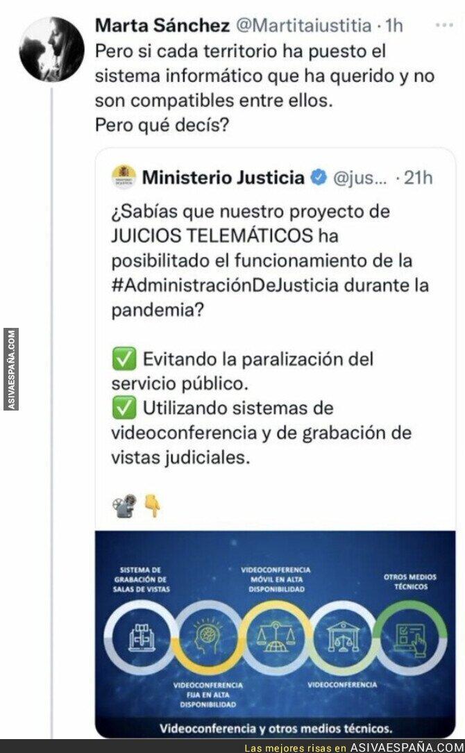 939571 - El Ministerio de Justicia a la suya