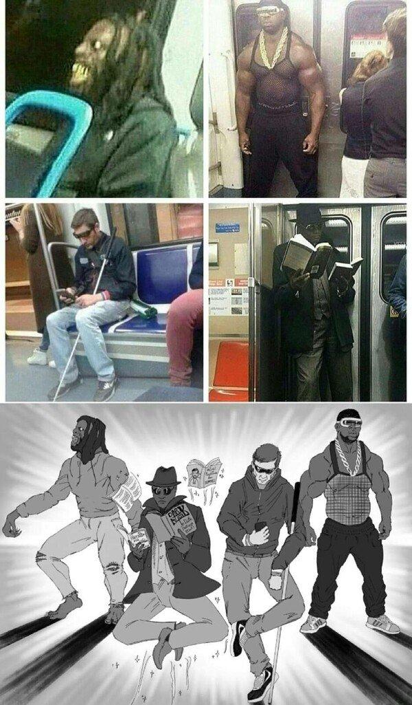 Meme_otros - Los superhéroes del metro
