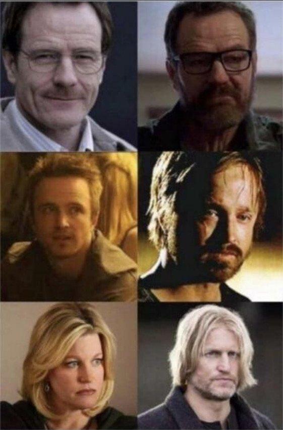 Meme_otros - El gran cambio de los actores de Breaking Bad