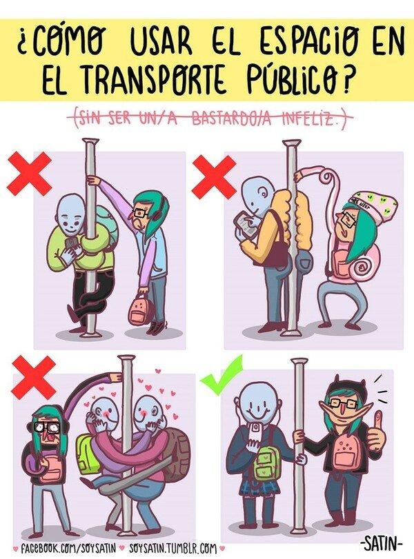 Otros - La forma correcta para estar en el transporte público con más gente