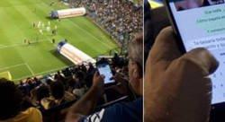 Enlace a Nada mejor que un partido de Boca para mandarse estos mensajes calientes captados por otro espectado