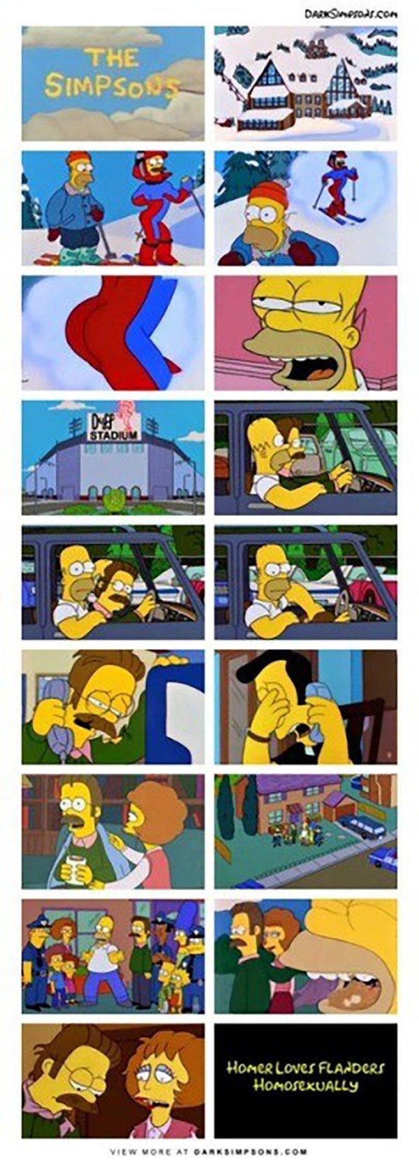 Meme_otros - Desde ese día Ned Flanders no levantó cabeza