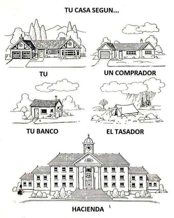 Meme_otros - Una casa se ve de muchas formas diferentes según la persona o entidad
