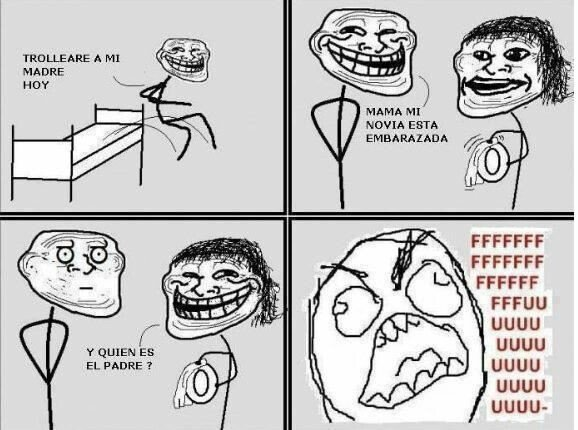 Embarazo,Madre,Padre,Rage Guy,Trollface