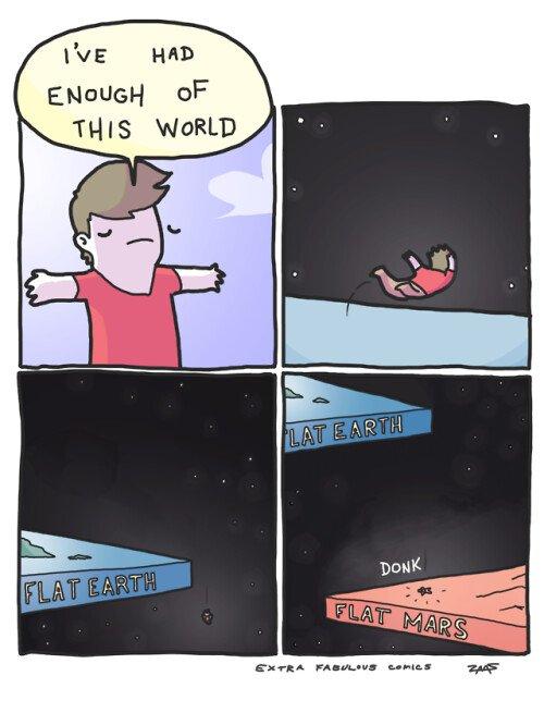 Otros - Lo malo de vivir en un universo de planetas planos