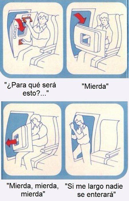 Meme_otros - Las instrucciones de seguridad en un avión
