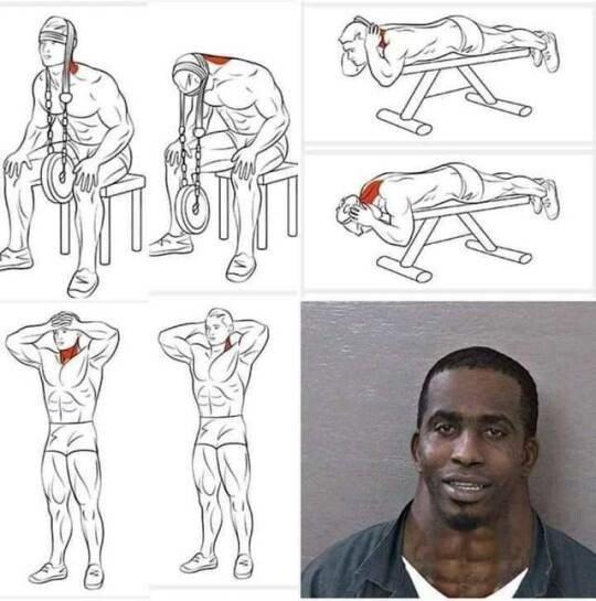Meme_otros - Los ejercicios para pillar musculatura en el cuello