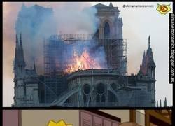 Enlace a Los Simpsons predijeron el incendio de Notre Dame... No cuela, ¿Verdad?