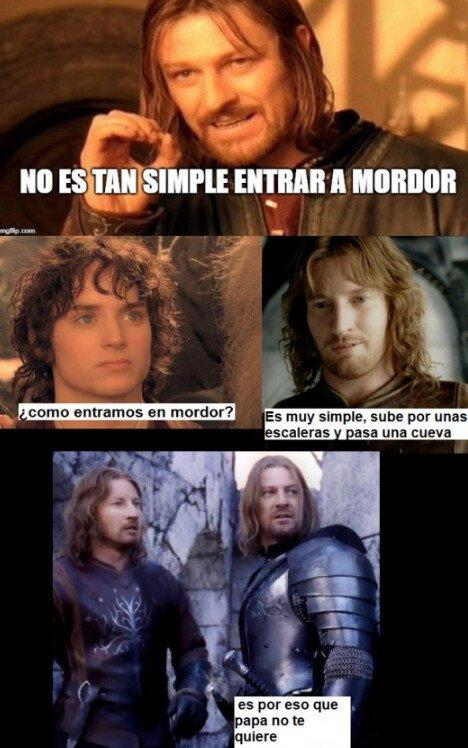 Meme_otros - Llegar a Mordor