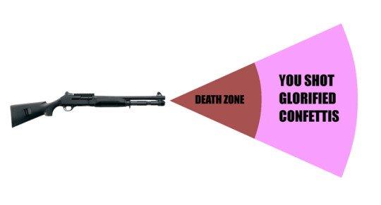Meme_otros - No se puede explicar mejor los disparos con la escopeta