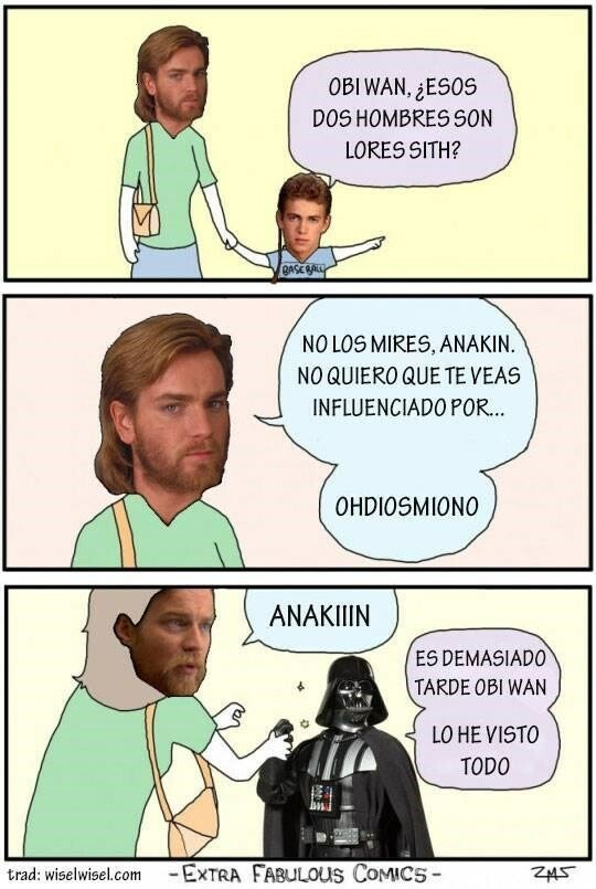 Otros - Anakin vio absolutamente todo