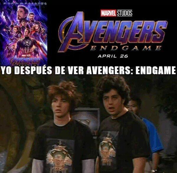 Meme_otros - Cuando sales de ver Endgame