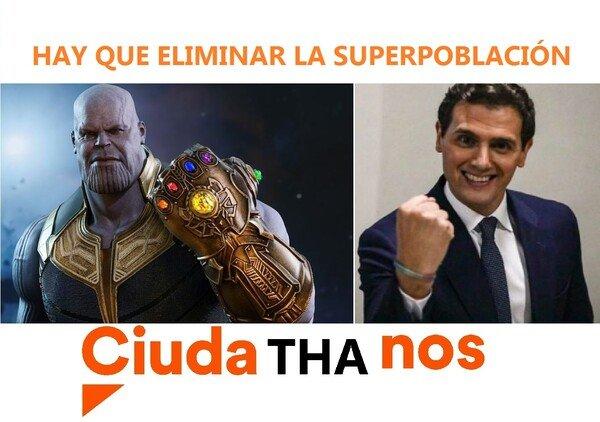 Meme_otros - Avengers superpoblación Ciudathanos