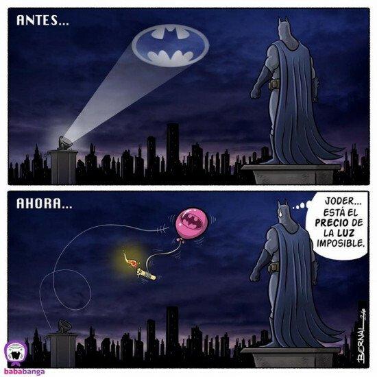 Otros - Batman también tiene que ahorrar en la factura