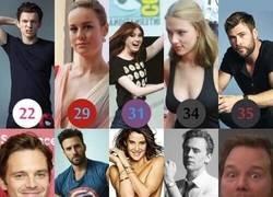 Enlace a La edad de los actores de Los Vengadores