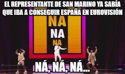 Enlace a Ya lo vaticinaba el representante de San Marino con su letra que pasaría con España en Eurovisión