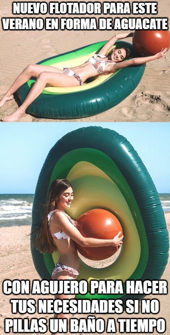 Meme_otros - Un flotador que te salva de algún apuro cuando no puedes ir al baño...