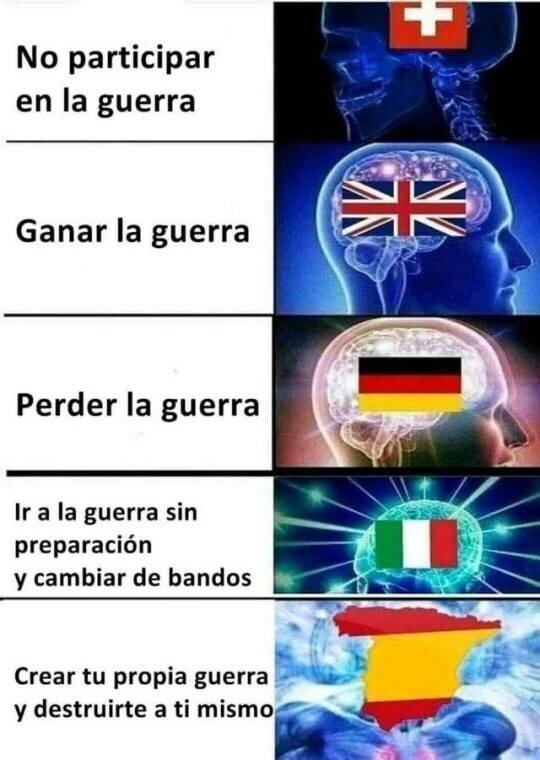 Meme_otros - Diferentes niveles para participar en la guerra