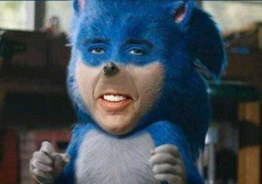 Meme_otros - Y así queda finalmente la cara de Sonic