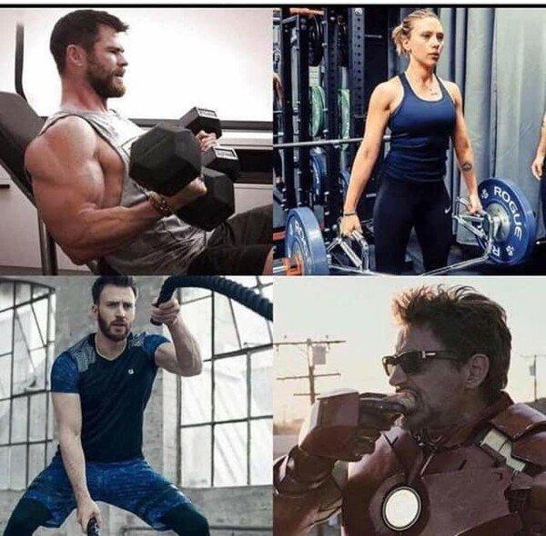 Meme_otros - Diferentes tipos de entrenamientos en los superhéroes