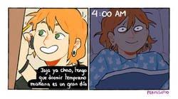 Enlace a Es imposible dormir cuando tenemos algo importante