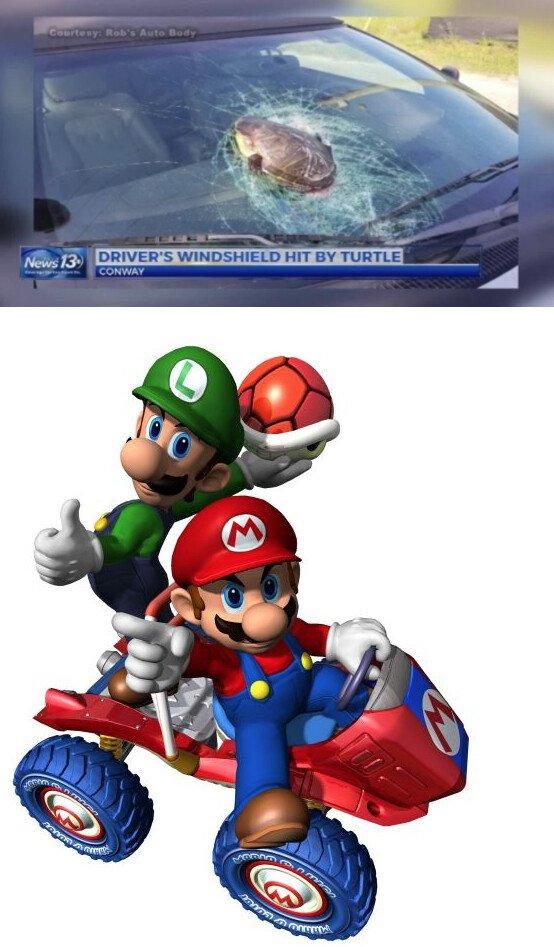 Meme_otros - El Mario Kart se está yendo totalmente de las manos