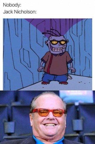 Meme_otros - Ed, Edd y Eddie x Jack Nicholson