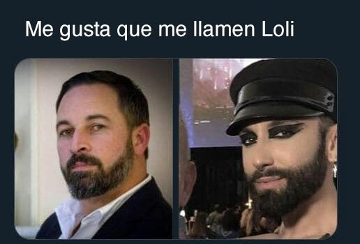 cuero,Loli,parecidos,Santiago Abascal