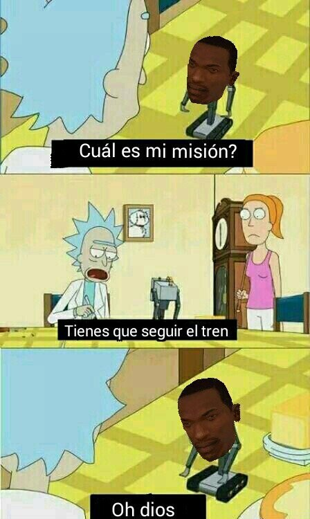 Big Smoke,Carl Johnson,Cj,Rick y Morty,Solo tenías que seguir el maldito Tren Cj,Tren