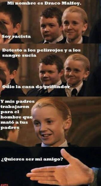 Otros - Draco Malfoy, un niño muy idiota
