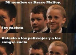Enlace a Draco Malfoy, un niño muy idiota